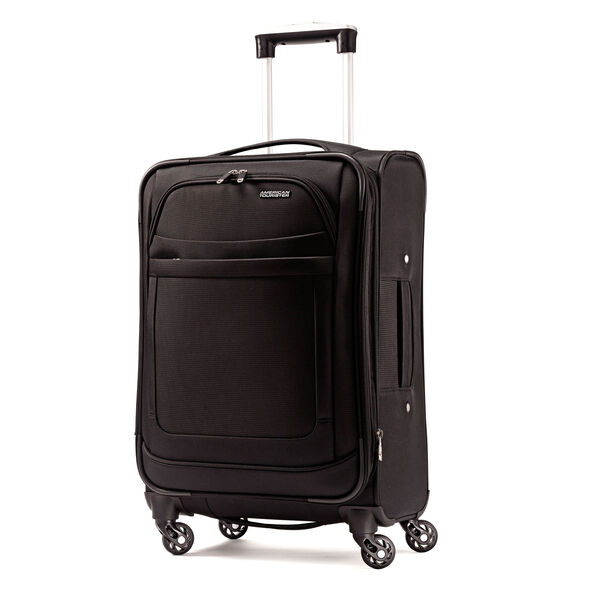 "American Tourister iLite Max 21"" Spinner in the color Black."