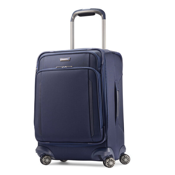Samsonite Silhouette XV Spinner Carry-On in the color Twilight Blue.
