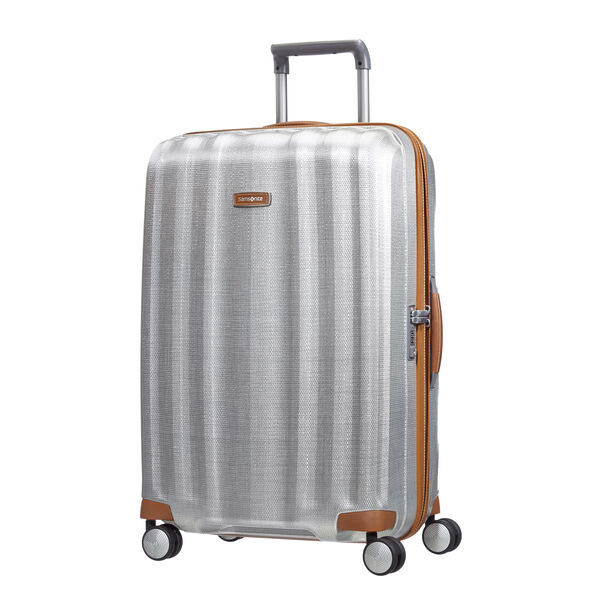 "Samsonite Black Label Lite-Cube DLX Spinner Large (28"") in the color Aluminum."