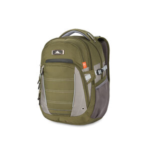 High Sierra SBT Slim Backpack in the color Olive/Charcoal/Ash.