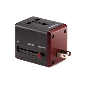 Samsonite World Wide Power Adapter in the color Black/Red.