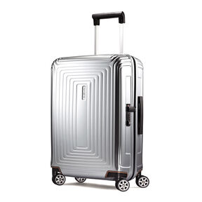 "Samsonite NeoPulse 20"" Spinner in the color Metallic Silver."