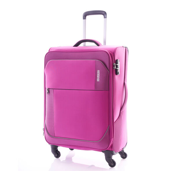"American Tourister Warren 30"" Spinner in the color Warren Fuchsia."