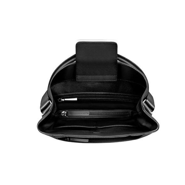 Lipault Plume Elegance Hobo Bag in the color Black Leather.