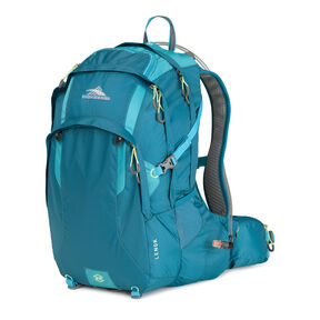 High Sierra Lenok Hydration Pack in the color Sea/ Tropic Teal/ Zest.