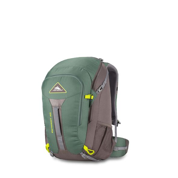 High Sierra Pathway 40L Pack in the color Pine/Slate/Chartreuse.