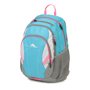 High Sierra Neenah Backpack in the color Tropic Teal/Charcoal/Silver/Flamingo.