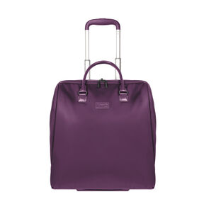 """Lipault Lady Plume Rolling Tote 15"""" in the color Purple."""