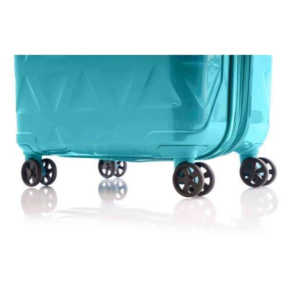 "Samsonite Novus 25"" Spinner in the color Aquamarine."