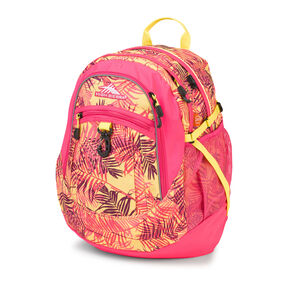 High Sierra Fat Boy Backpack in the color Paradise/ Flamingo/Sunburst.