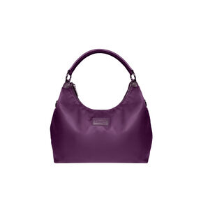 Lipault Lady Plume Hobo Bag L in the color Purple.