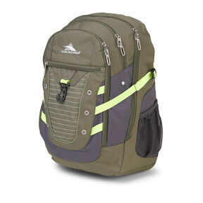 High Sierra Tactic Backpack in the color Moss/Mercury/Zest.