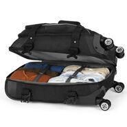 High Sierra AT7 Carry-On Spinner Duffle in the color Black.