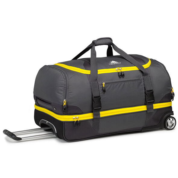 "High Sierra Sportour 28"" Drop-Bottom Wheeled Duffel in the color Grey/Mercury/Black."