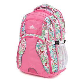 High Sierra Swerve Backpack in the color Summer Flight/Pink Lemonade.