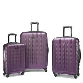 Samsonite Ziplite 2.0 3 Piece Set in the color Purple.