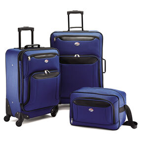 American Tourister Brookfield 3 PC Set in the color Navy Black.