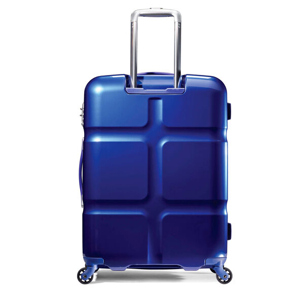 "American Tourister Cube Pop 31"" Spinner in the color Blue."