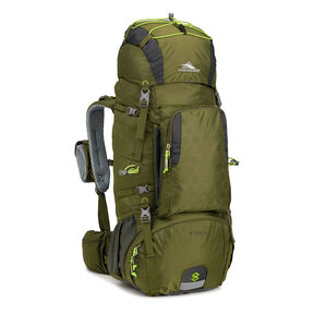 High Sierra Tech 2 Series Titan 55 Frame Pack in the color Moss/Mercury/Chartreuse.