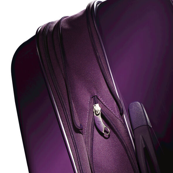 "Samsonite Sahora Brights 20"" Carry On Spinner Luggage in the color Purple."