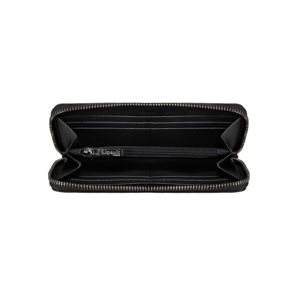 Lipault Plume Elegance Zip Around Wallet (leather) in the color Black.