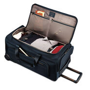 "Hartmann Metropolitan 27"" Rolling Duffel in the color Harbor Blue."