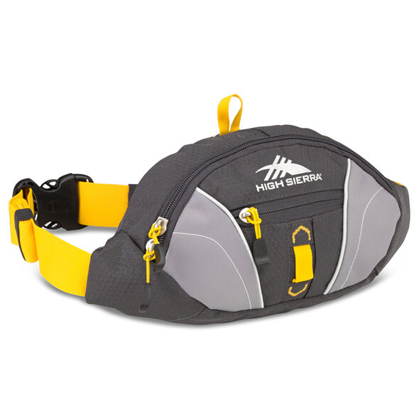 High Sierra Classic 2 Series Passport Waistpack in the color Mercury/Ash/Yellow.