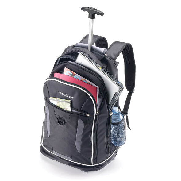 Samsonite Campus Gear Wheeled Backpack in the color Black/Grey.