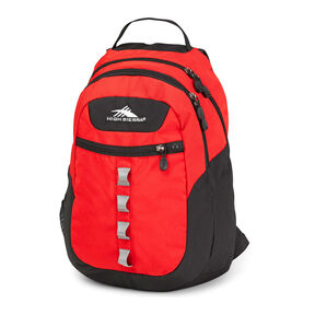 High Sierra Opie Backpack in the color Crimson/ Charcoal.