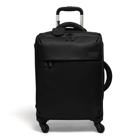 """Lipault Original Plume 22"""" Spinner Carry On in the color Black."""