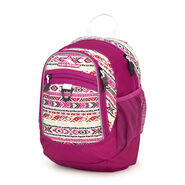 High Sierra Mini Fat Boy Backpack in the color Macrame/Razzmatazz/White.
