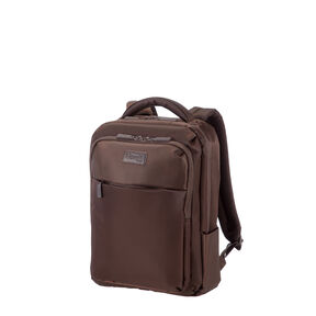 "Lipault Plume Business 15"" Computer Backpack in the color Chocolate."