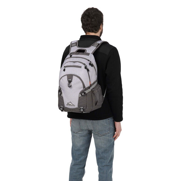 High Sierra Loop Backpack in the color Jersey Knit/Slate/Ash.