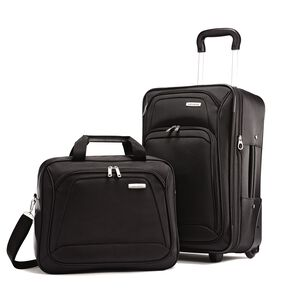 Samsonite 2 Piece Upright Set in the color Black.