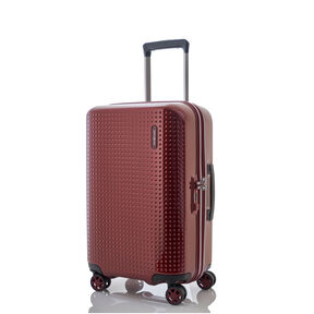 "Samsonite Pixelon 20"" Spinner in the color Ruby."