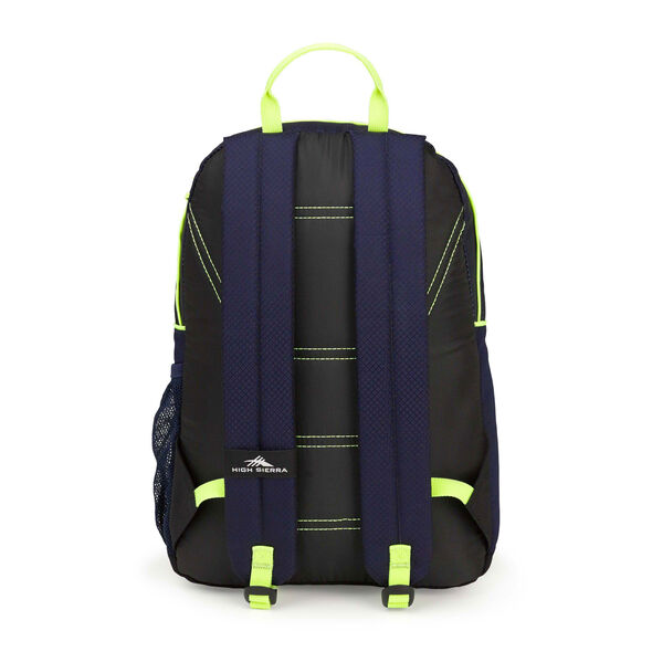 High Sierra Mini Loop Backpack in the color True Navy/Black/Zest.