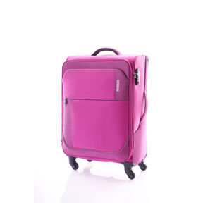 "American Tourister Warren 20"" Spinner in the color Warren Fuchsia."