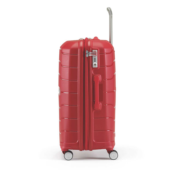 "Samsonite Freeform 24"" Spinner in the color Red."