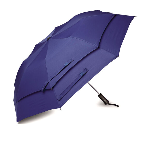 Samsonite Windguard Auto Open Umbrella in the color Aqua Blue.