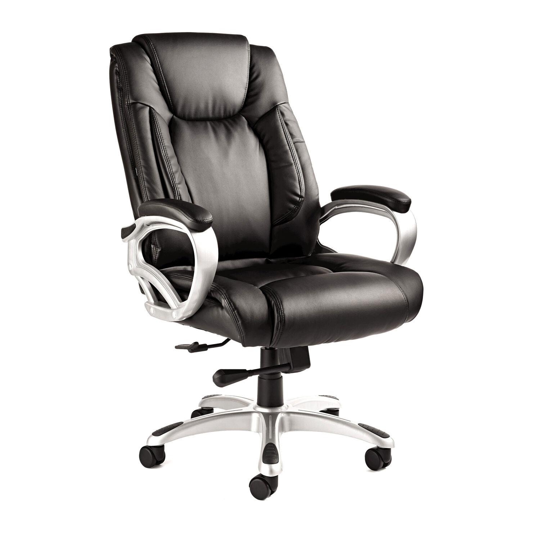 Samsonite San Mateo Big Tall Premium Bonded Leather Chair in the color Black