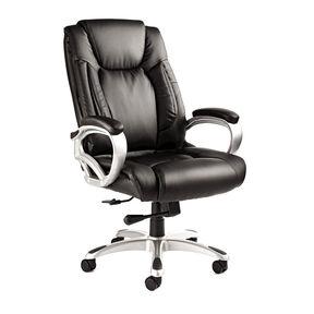 Samsonite San Mateo Big & Tall Premium Bonded Leather Chair in the color Black.