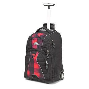 High Sierra Freewheel Wheeled Backpack in the color Buffalo Plaid.