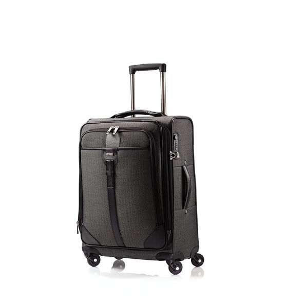 Hartmann Herringbone Luxe SS Carry On Spinner in the color Black.