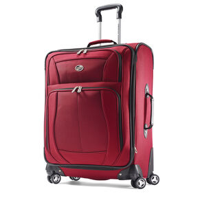 "American Tourister Bedford 25"" Spinner in the color Ruby Red."