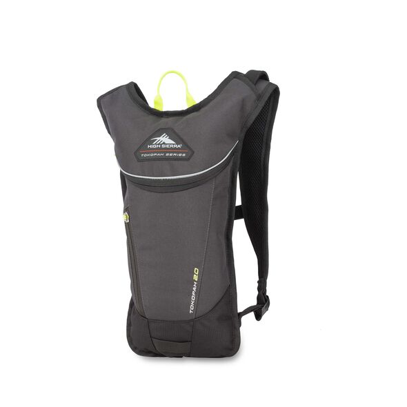 High Sierra Tokopah 2L Hydration Pack in the color Raven/Black/Zest.