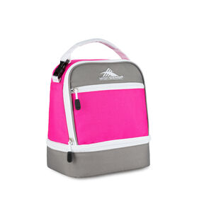 High Sierra Lunch Packs Stacked Compartment in the color Flamingo Pink.