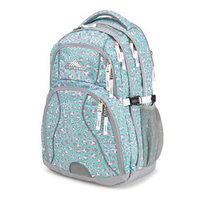 High Sierra Swerve Backpack in the color Mint Leopard.