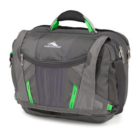 High Sierra XBT TSA Messenger in the color Mercury/ Charcoal.