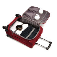 "Samsonite Bartlett 20"" Spinner in the color Red."