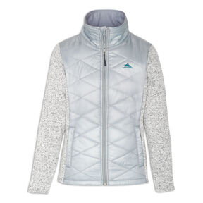 High Sierra Women's Funston Hybrid Jacket in the color Ash/ Lagoon.